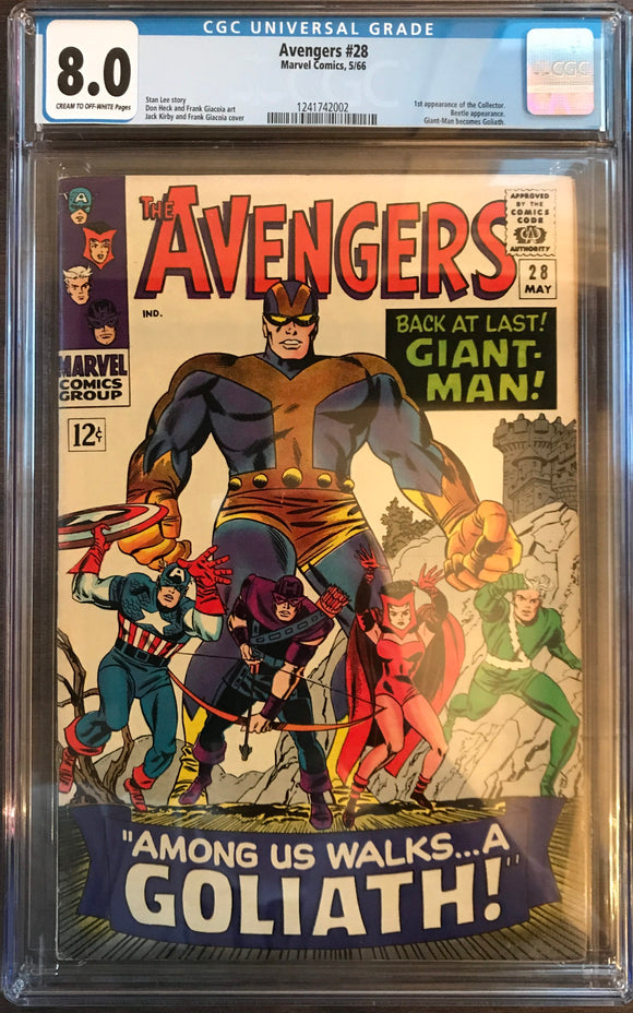 Avengers #28 CGC 8.0 Off-White To White Pages