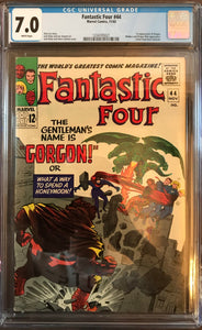Fantastic Four #44 CGC 7.0 White Pages