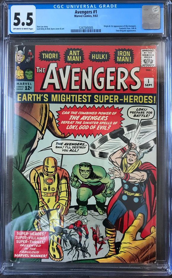 Avengers #1 CGC 5.5 Off-White to White Pages
