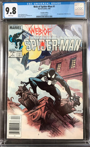 Web of Spider-Man #1 CGC 9.8 White Pages ~CANADIAN VARIANT~