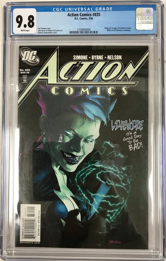 Action Comics #835 CGC 9.8 White Pages