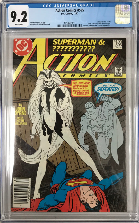 Action Comics #595 CGC 9.2 White Pages ~CANADIAN VARIANT~