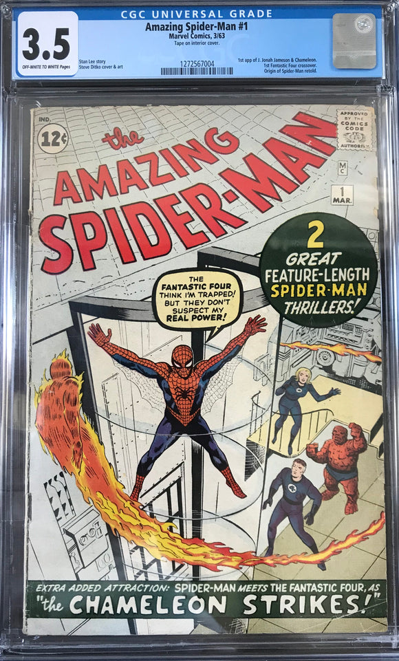 Amazing Spider-Man #1 CGC 3.5 Off-White to White Pages
