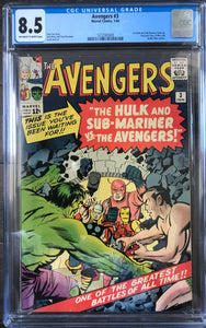 Avengers #3 CGC 8.5 Off-White to White Pages