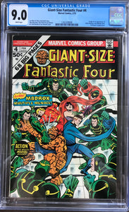 Giant-Size Fantastic Four #4 CGC 9.0 White Pages