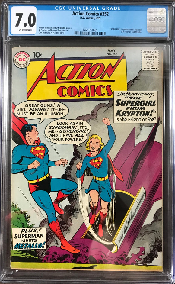 Action Comics #252 CGC 7.0 Off-White Pages