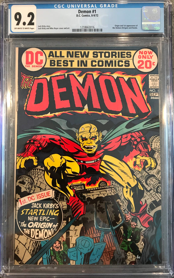 Demon #1 CGC 9.2 Off-White to White Pages