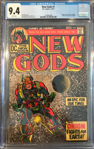 New Gods #1 CGC 9.4 White Pages