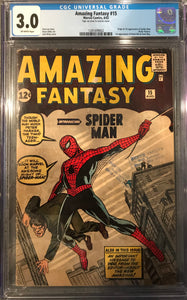 Amazing Fantasy #15 CGC 3.0 Off-White Pages