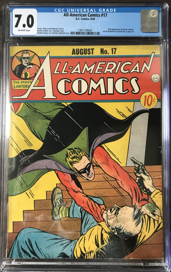 All-American Comics #17 CGC 7.0 Off-White Pages