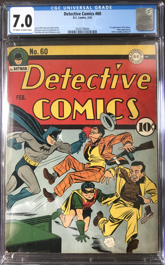 Detective Comics #60 CGC 7.0 Off-White to White Pages