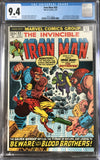 Iron Man #55 CGC 9.4 White Pages