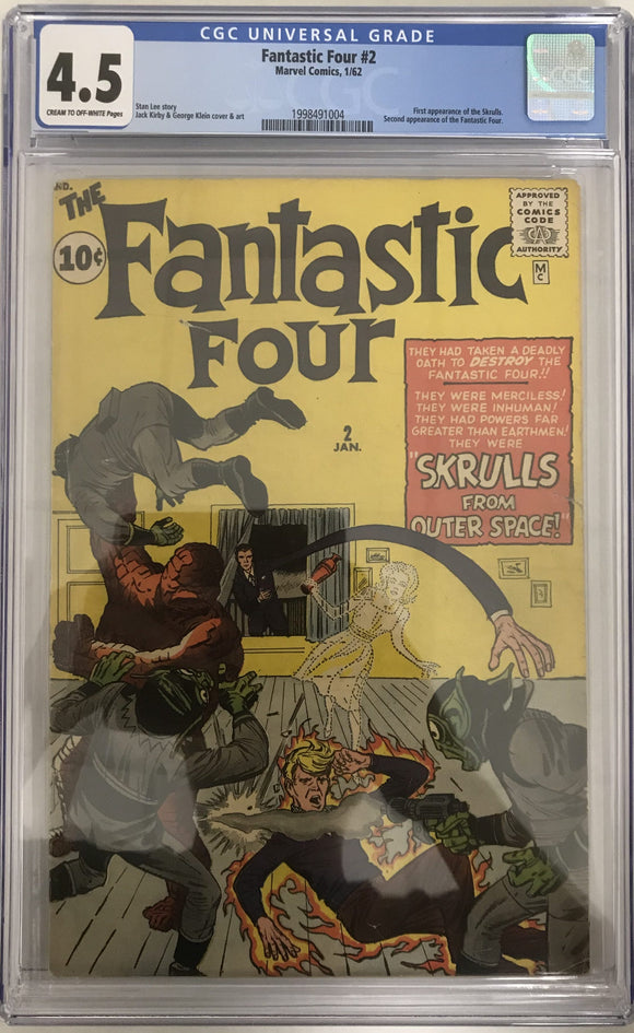 Fantastic Four #2 CGC 4.5 Cream to Off-White Pages