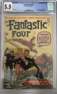 Fantastic Four #4 CGC 5.5 Off-White to White Pages