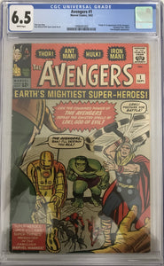 Avengers #1 CGC 6.5 White Pages