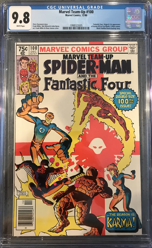 Marvel Team-Up #100 CGC 9.8 ~NEWSSTAND VARIANT~