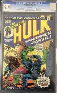 Incredible Hulk #182 CGC 9.4 White Pages