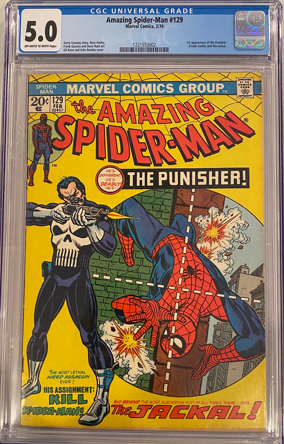 Amazing Spider-Man #129 CGC 5.0 Off-White to White Pages