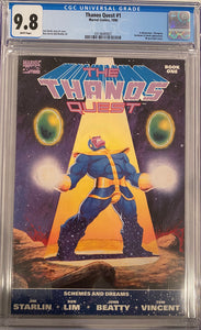 Thanos Quest #1 CGC 9.8 White Pages