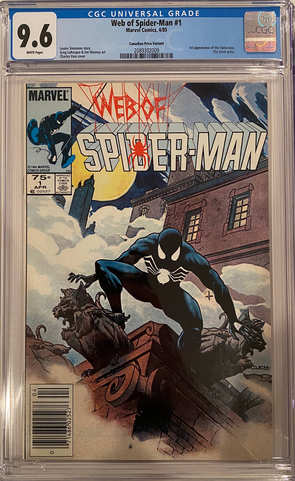 Web of Spider-Man #1 CGC 9.6 ~CANADIAN PRICE VARIANT~