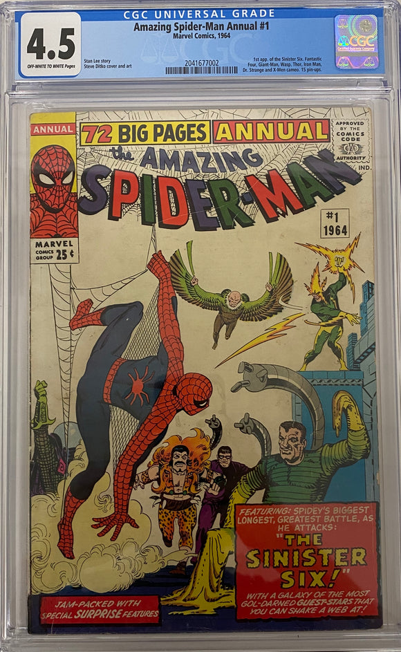 Amazing Spider-Man Annual #1 CGC 4.5 Off-White to White Pages