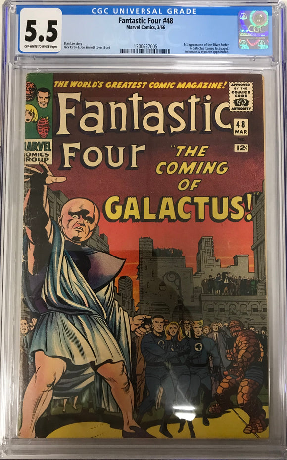 Fantastic Four #48 CGC 5.5 Cream to Off-White Pages