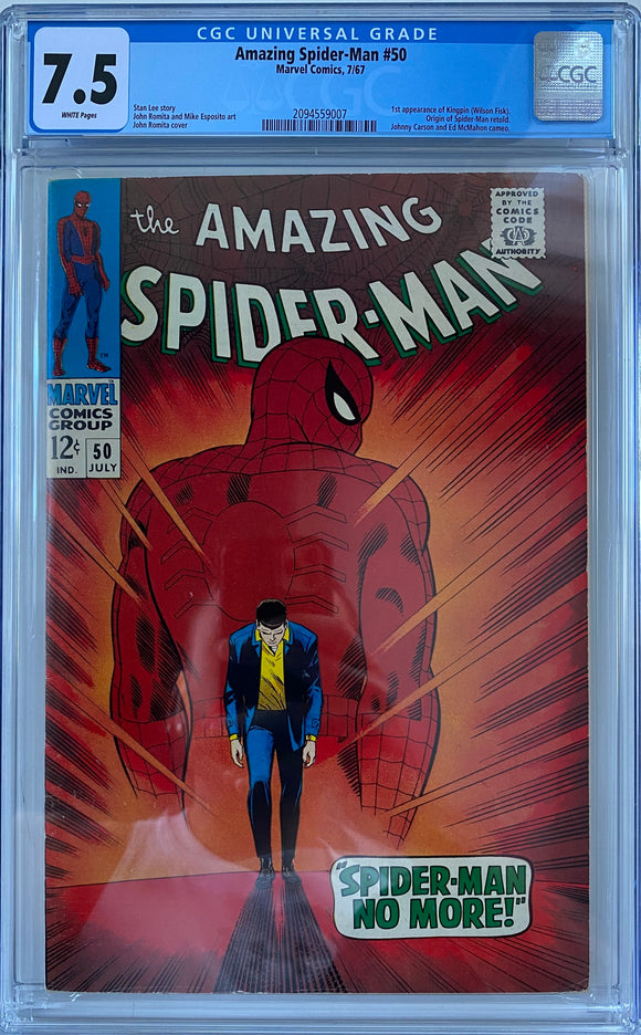 Amazing Spider-Man #50 CGC 7.5 White Pages