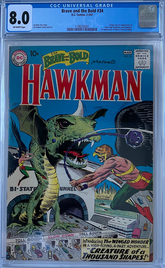 Brave and the Bold #34 CGC 8.0 Off-White Pages