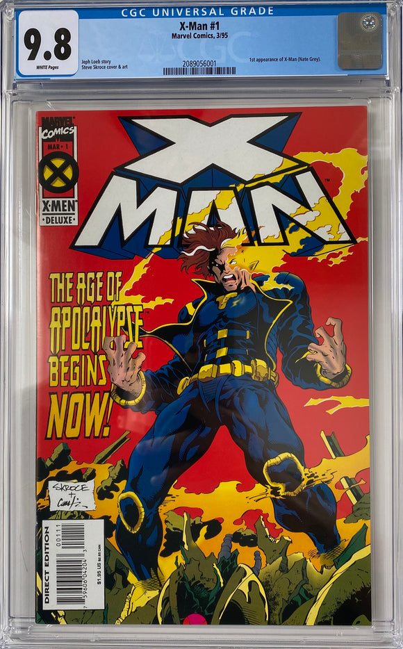 X-Man #1 CGC 9.8 White Pages