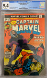 Captain Marvel #34 CGC 9.4 White Pages