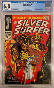 Silver Surfer #3 CGC 6.0 White Pages