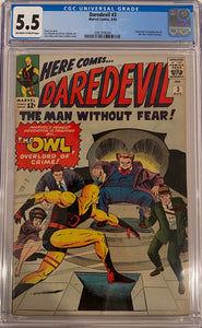 Daredevil #3 CGC 5.5 Off-White to White Pages