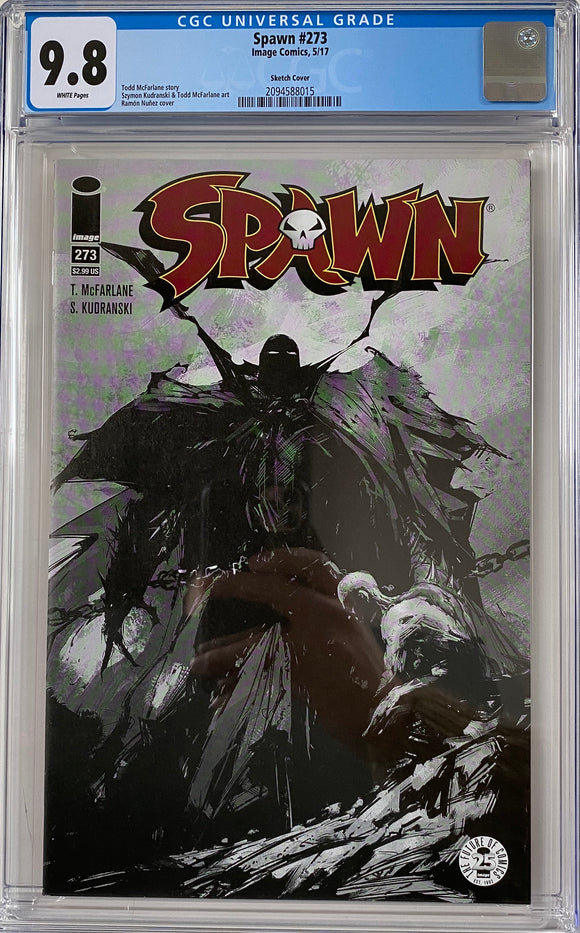 Spawn #273 CGC 9.8 White Pages ~Sketch Variant~