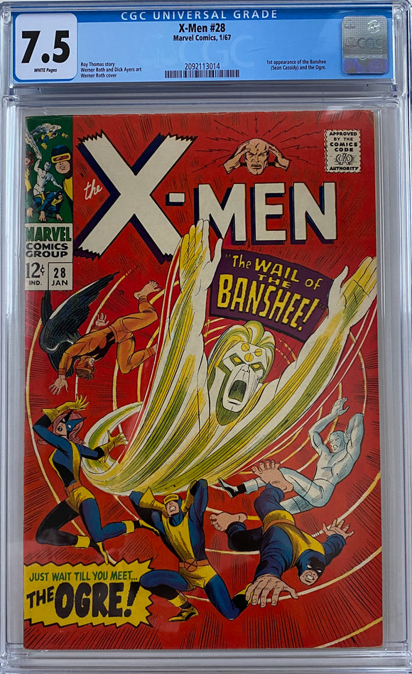 Copy of X-Men #28 CGC 7.5 White Pages