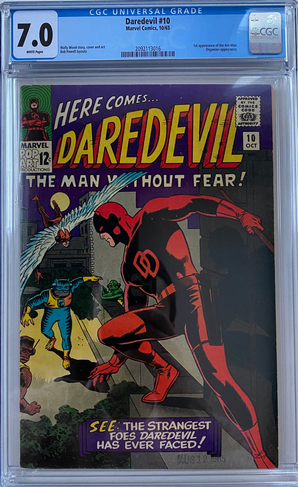 Daredevil #10 CGC 7.0 White Pages