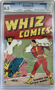 Whiz Comics #2 (#1) CGC 6.5 Off-White to White Pages