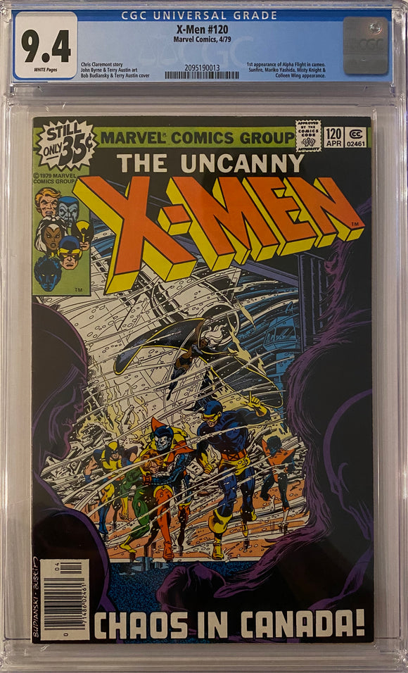 X-Men #120 CGC 9.4 White Pages