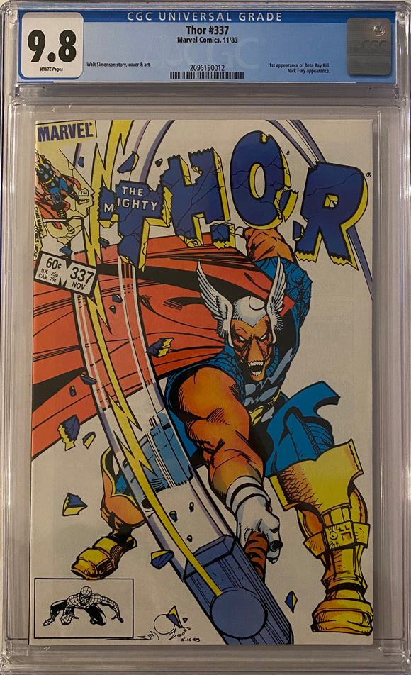 Thor #337 CGC 9.8 White Pages