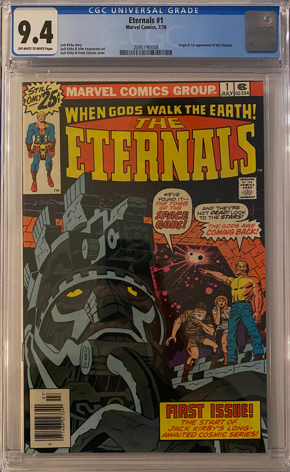 Eternals #1 CGC 9.4 Off-White to White Pages