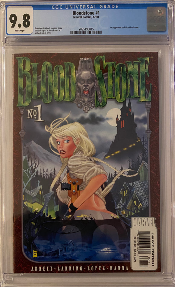 Bloodstone #1 CGC 9.8 White Pages