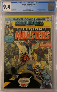 Marvel Premiere #28 CGC 9.4 White Pages