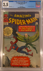Amazing Spider-Man #7 CGC 2.5 Off-White Pages
