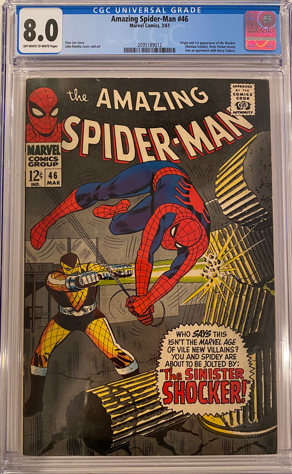 Amazing Spider-Man #46 CGC 8.0 Off-White to White Pages