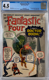 Fantastic Four #5 CGC 4.5 Off-White to White Pages