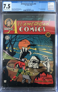 All-American Comics #61 CGC 7.5 Off-White to White Pages