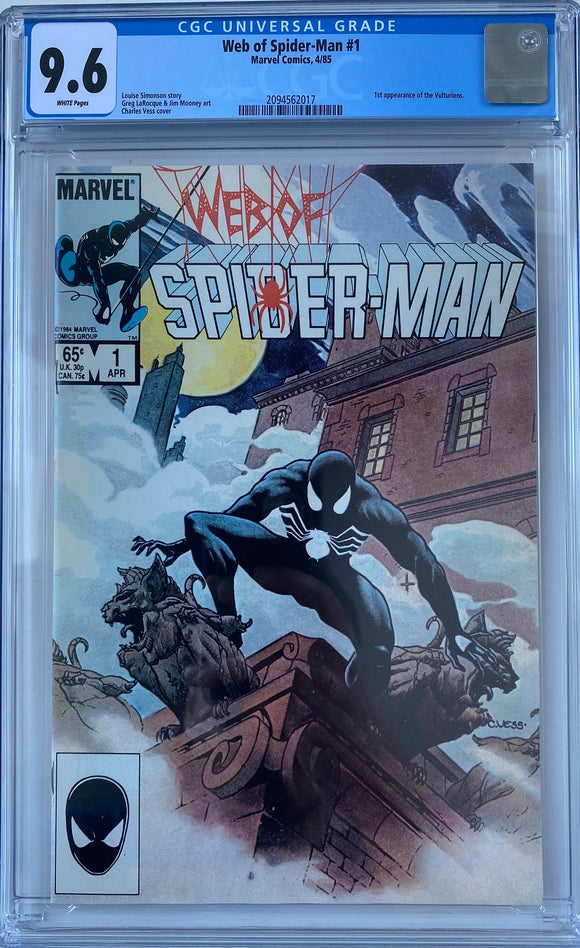 Web of Spider-Man #1 CGC 9.6 White Pages