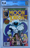 Moon Knight #1 CGC 9.4 White Pages