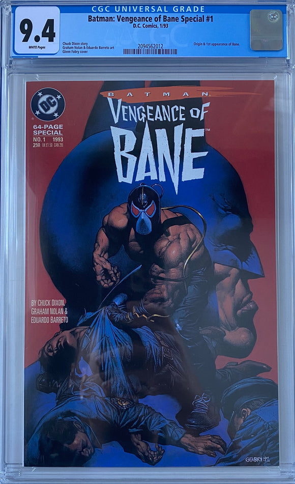 Batman: Vengeance of Bane Special #1 CGC 9.4 White Pages