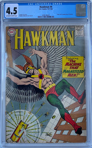 Hawkman #4 CGC 4.5 Off-White to White Pages