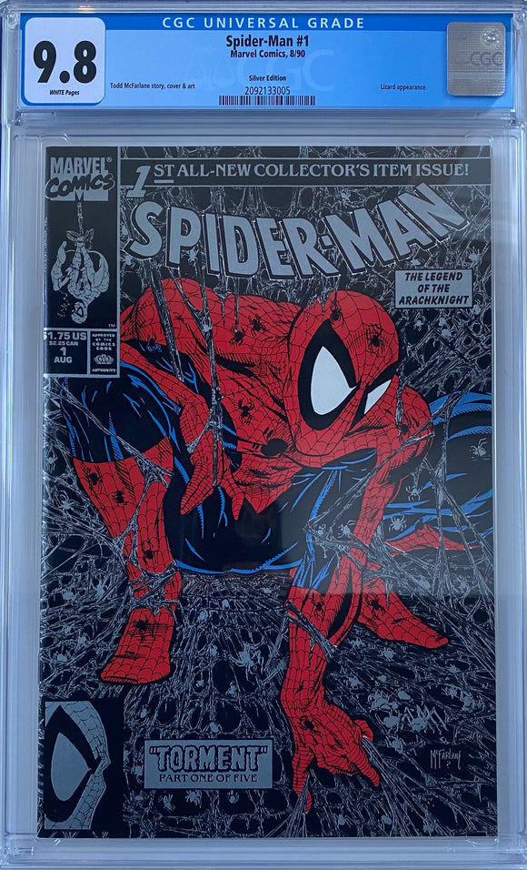Spider-Man #1 CGC 9.8 White Pages ~Silver Edition~
